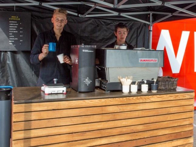 Shaun Young (left)Founder & DirectorNoble Espresso at King's Cross. Photo: John Sturrock