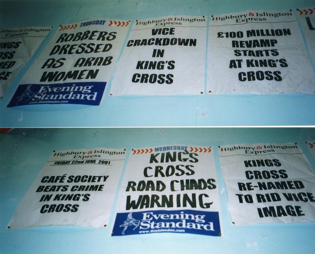 Headlines, Evening Standard c2002. Photo: Stephen Emms