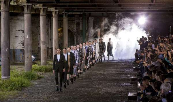 Alexander McQueen Men's Fashion Show in the Coal Drops at Kings Cross Central