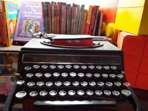 Paperbacks, typewriter, a roaring woodburner: what more do you want?