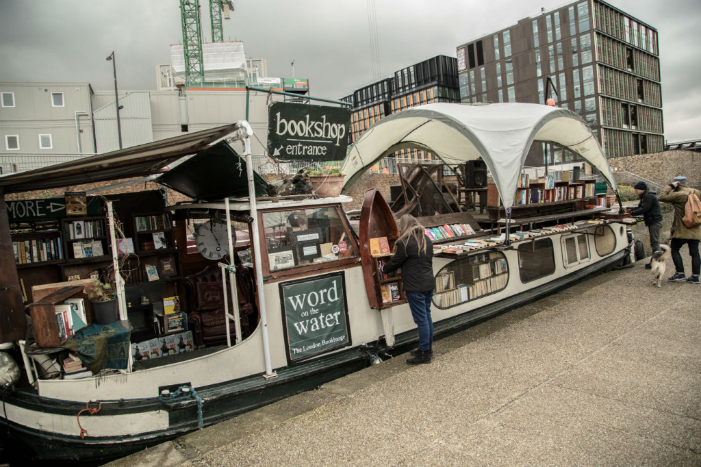 The floating bookshop: rumageable inside and out