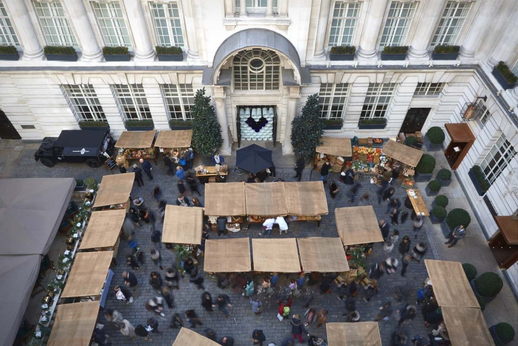 Farmer's up-market: the Edwardian courtyard setting at the Rosewood