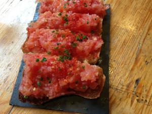 Pan con tomate at Camino. Photo: LBTM
