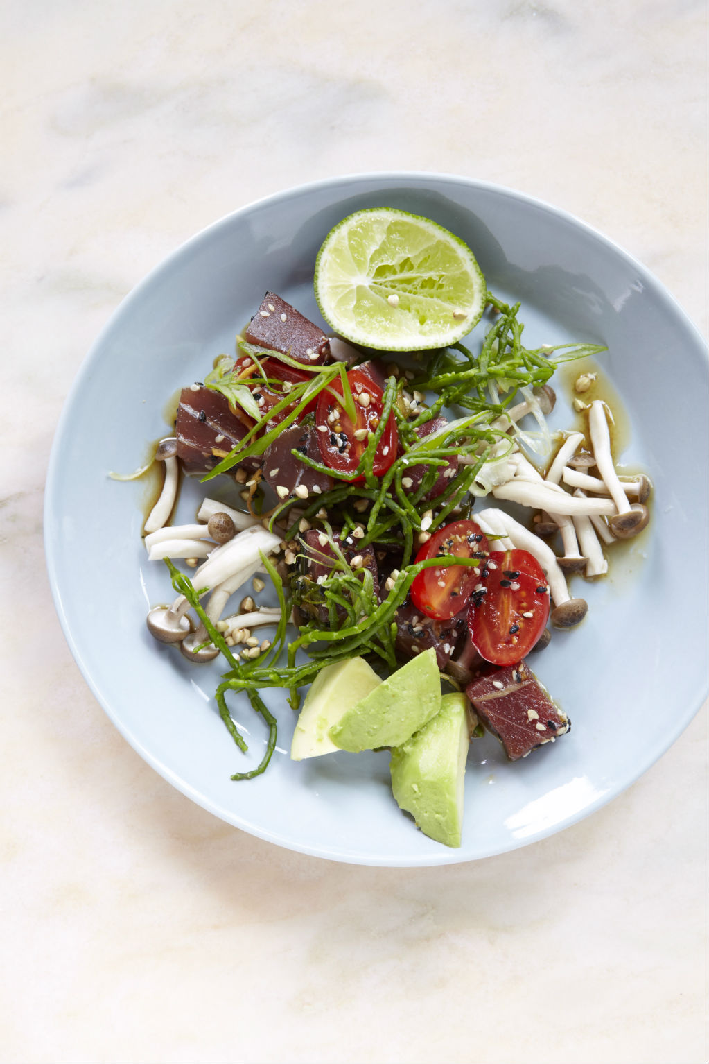 Raw tuna & avocado poke. Photo: Petrina Tinsley