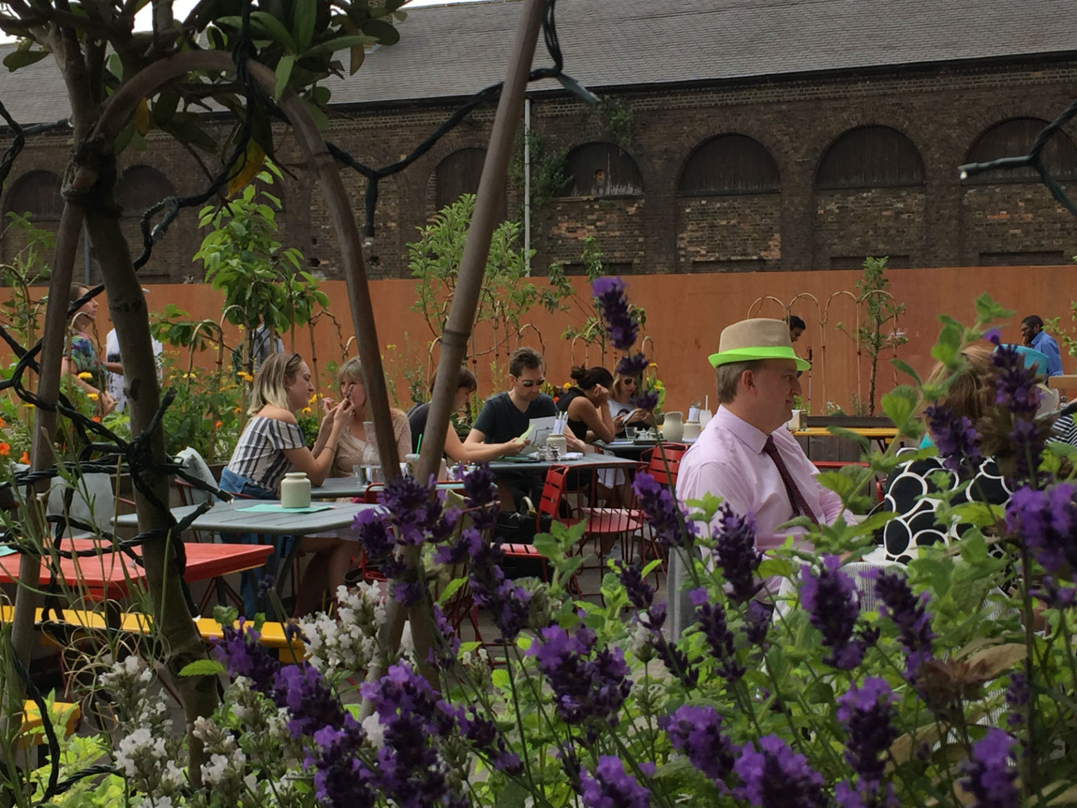 The terrace in August - on a rare sizzling lunchtime.  Photo: Tom Kihl