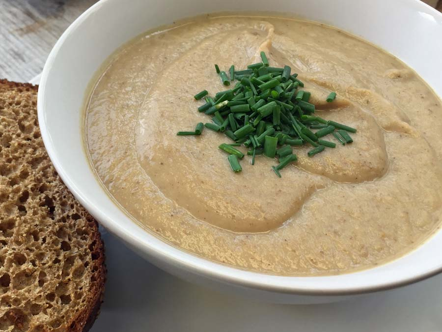 Cauliflower & cumin soup, a hit with the youngsters. Photo: Tom Kihl