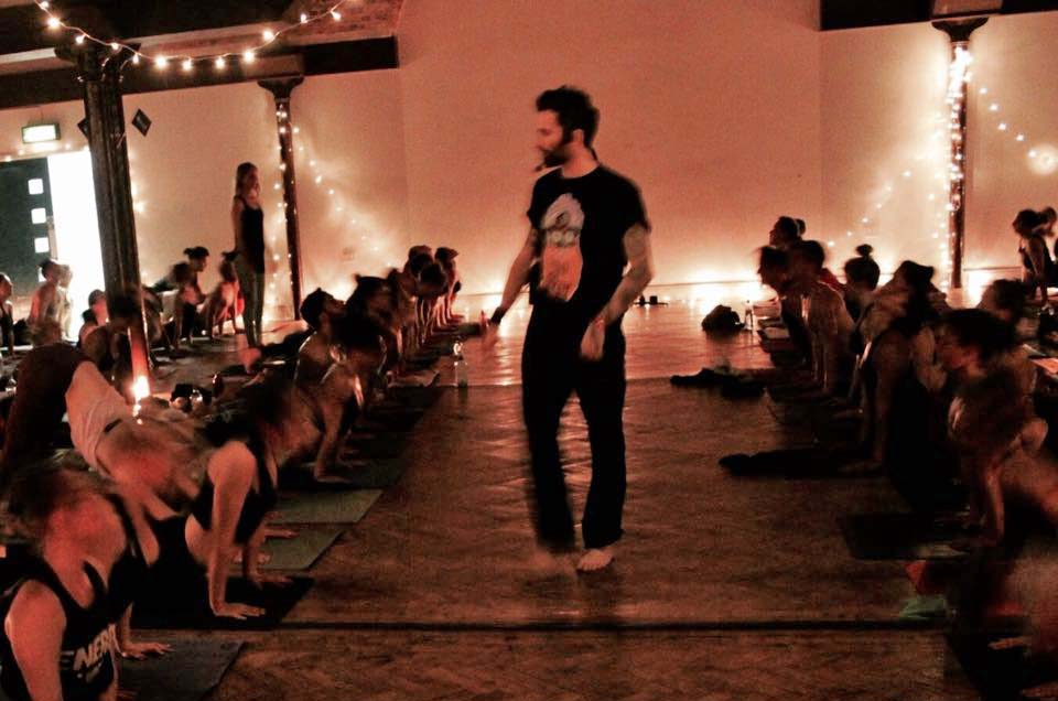 Marcus Veda working the floor at Dead Yogis Society.  Photo: Russell Marsh