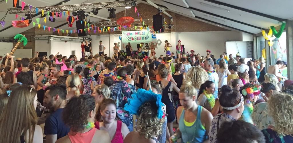 Yoga and intoxicant-free raving at 6.30am: Morning Gloryville at Oval Space.  Photo: Tom Kihl