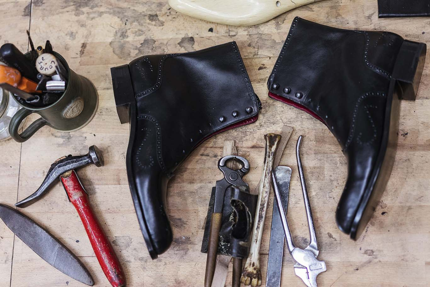 Carreducker boots, hand-stitched in Bloomsbury. Photo: John Adrian