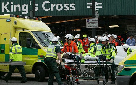 After the bomb on 7/7. Photo: Telegraph.co.uk