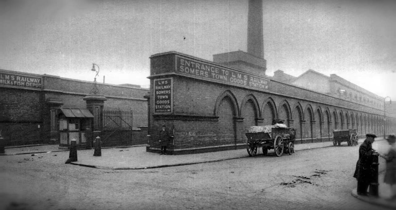 Original gates to Somers Town Goods Yard. Photo: Still from Wellcome Trust video