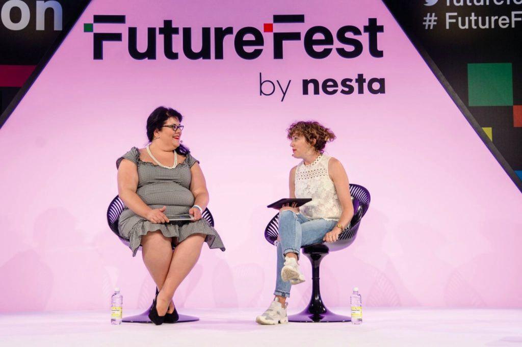 Annie Mac interviews Amy Lamé at Future Fest.
