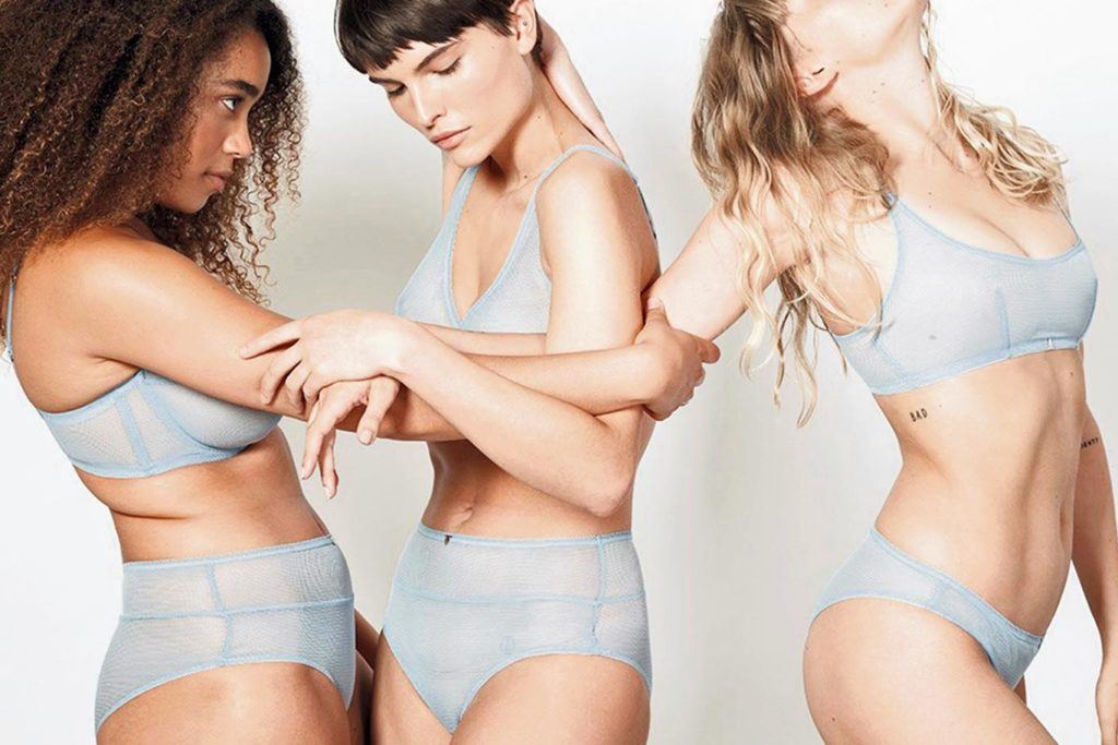 Girls in underwear of Beija London: debut store at Coal Drops Yard