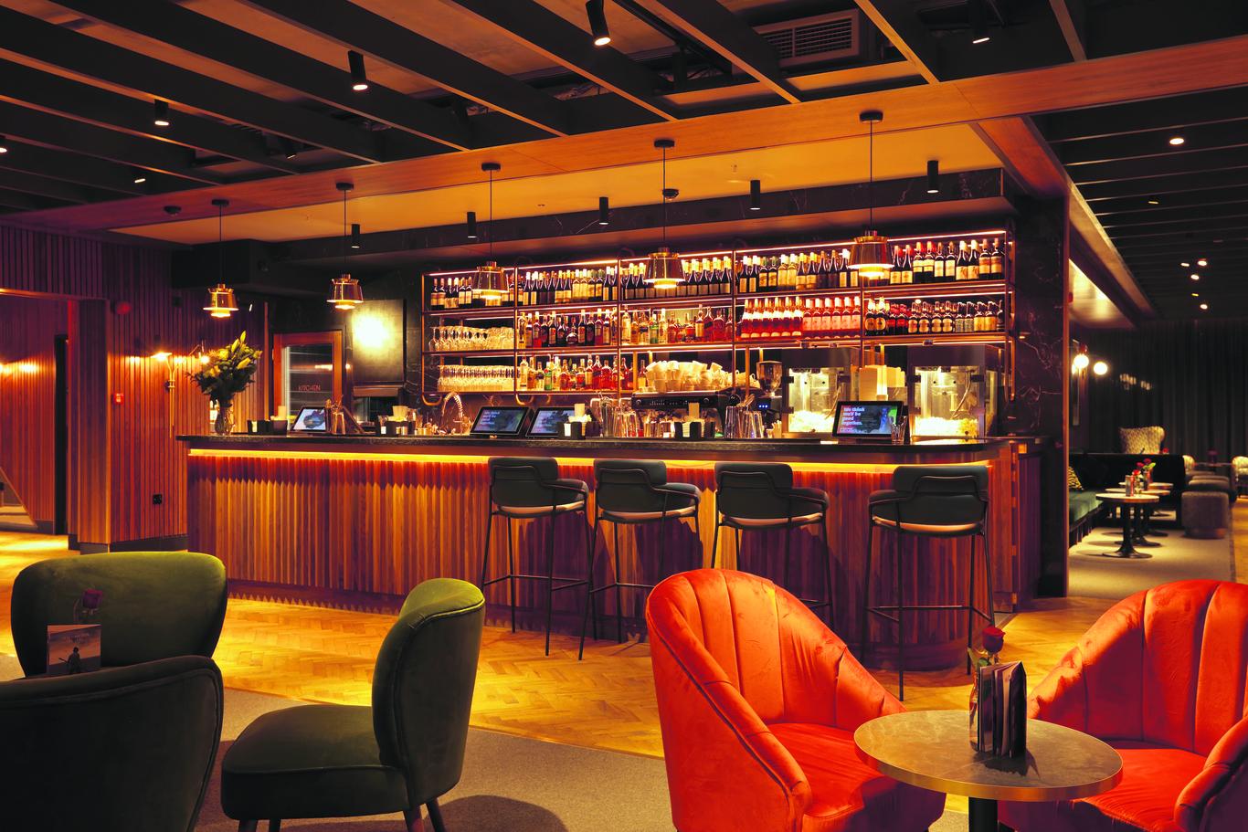 Interior of Everyman bar. Everyman and Spiritland are uniting