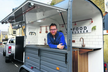 Food trailer at Knebworth Winter Festival