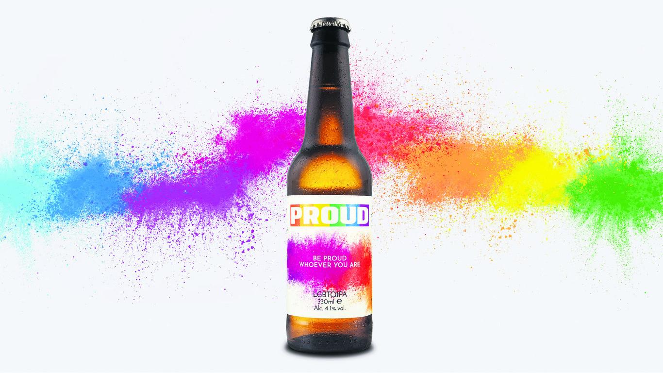 bottle of gay beer