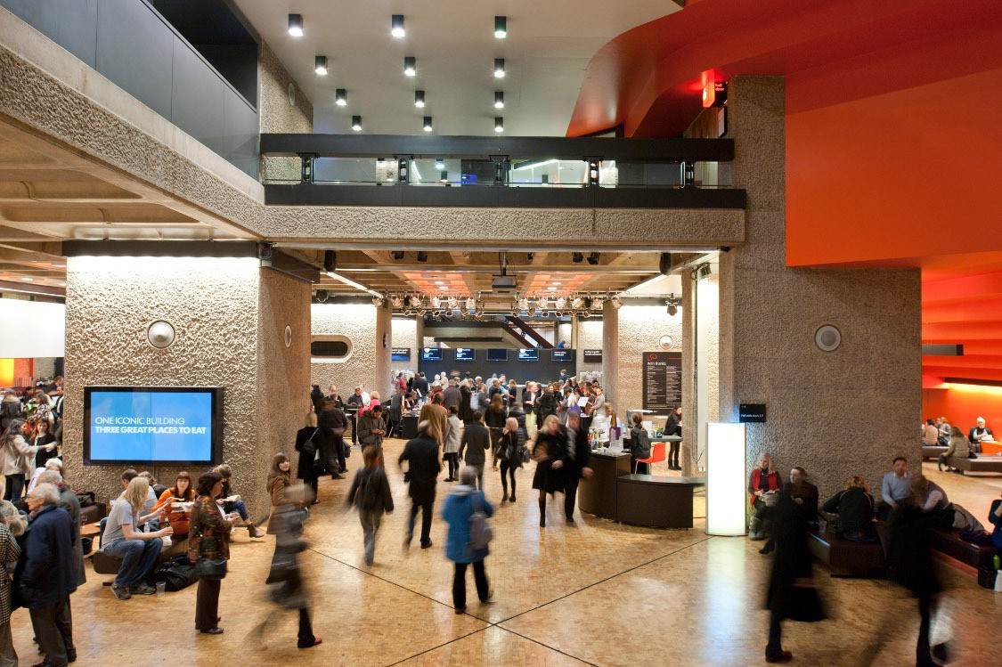 One of the foyers at the Barbican where London Symphony Orchestra will be performing this March