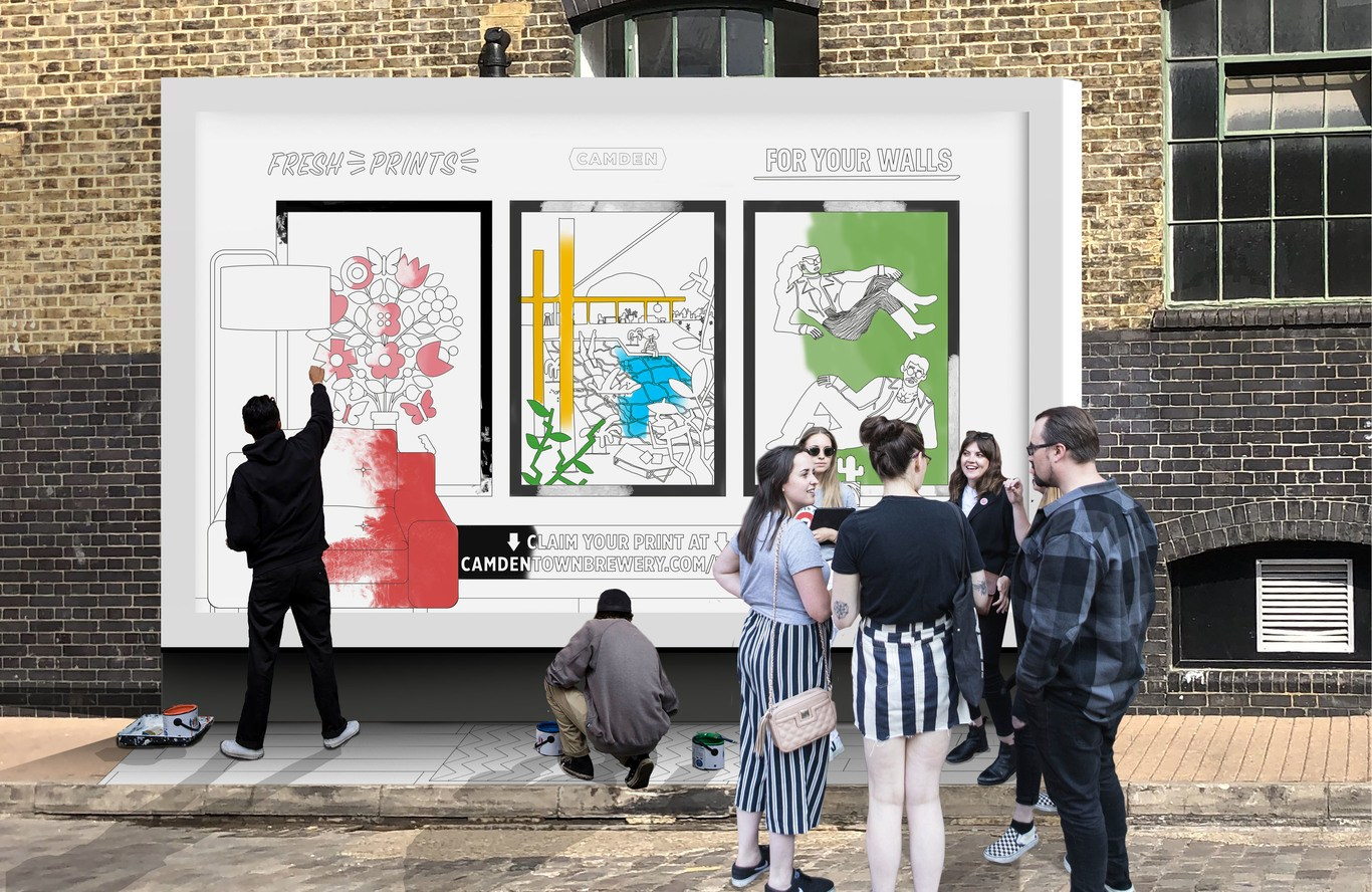 Colour-it-yourself: Camden Town Brewery's pop-up